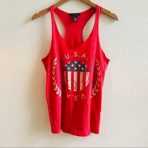 USA soccer women's red racerback tank S